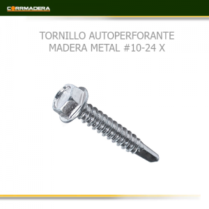 TORNILLO-AUTOPERFORANTE-MADERA-METAL-10-24-X